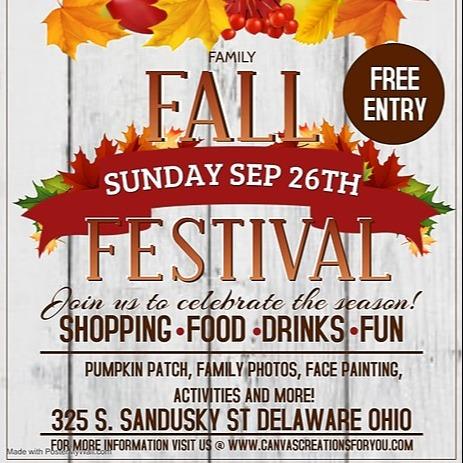 @canvascreationsforyou Family Fall Festival!🍂 9/26 Link Thumbnail   Linktree