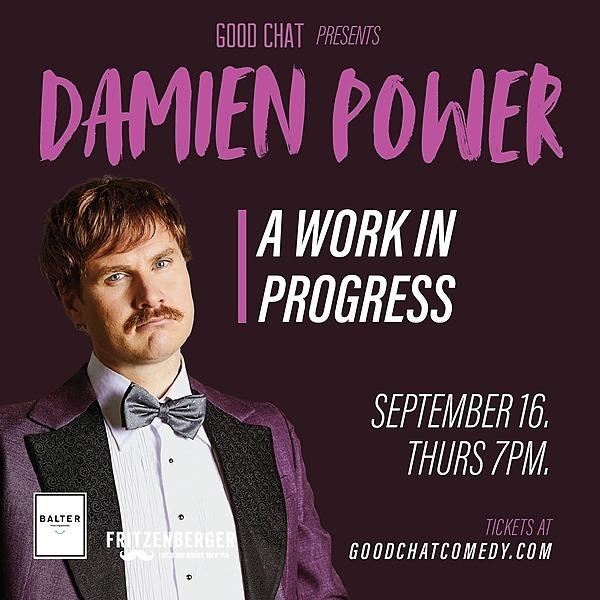 @goodchatcomedy Get tickets to Damien Power | A Work In Progress [Sept 16] Link Thumbnail | Linktree