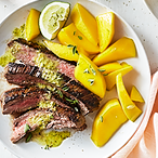 WW Cuban Flank Steak with Lime and Fresh Mango Recipe