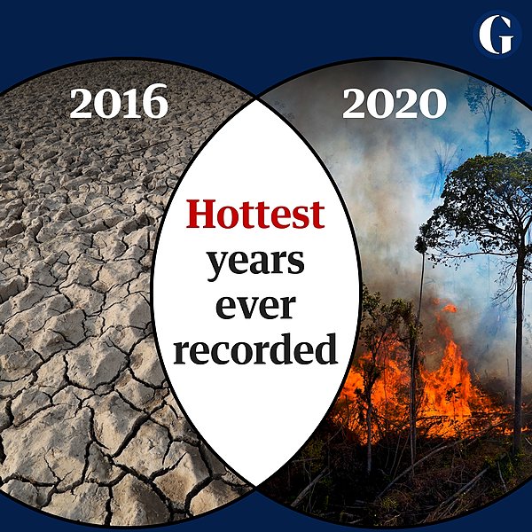2020 was joint hottest year ever recorded