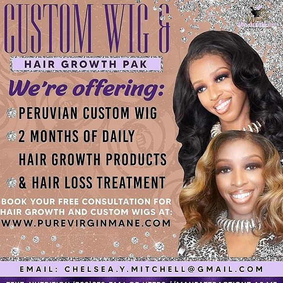 @maneattractionz Purchase  Hair Growth Oils & Custom Wigs  Link Thumbnail | Linktree