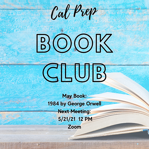 Book Club 5/21 @ 12 PM