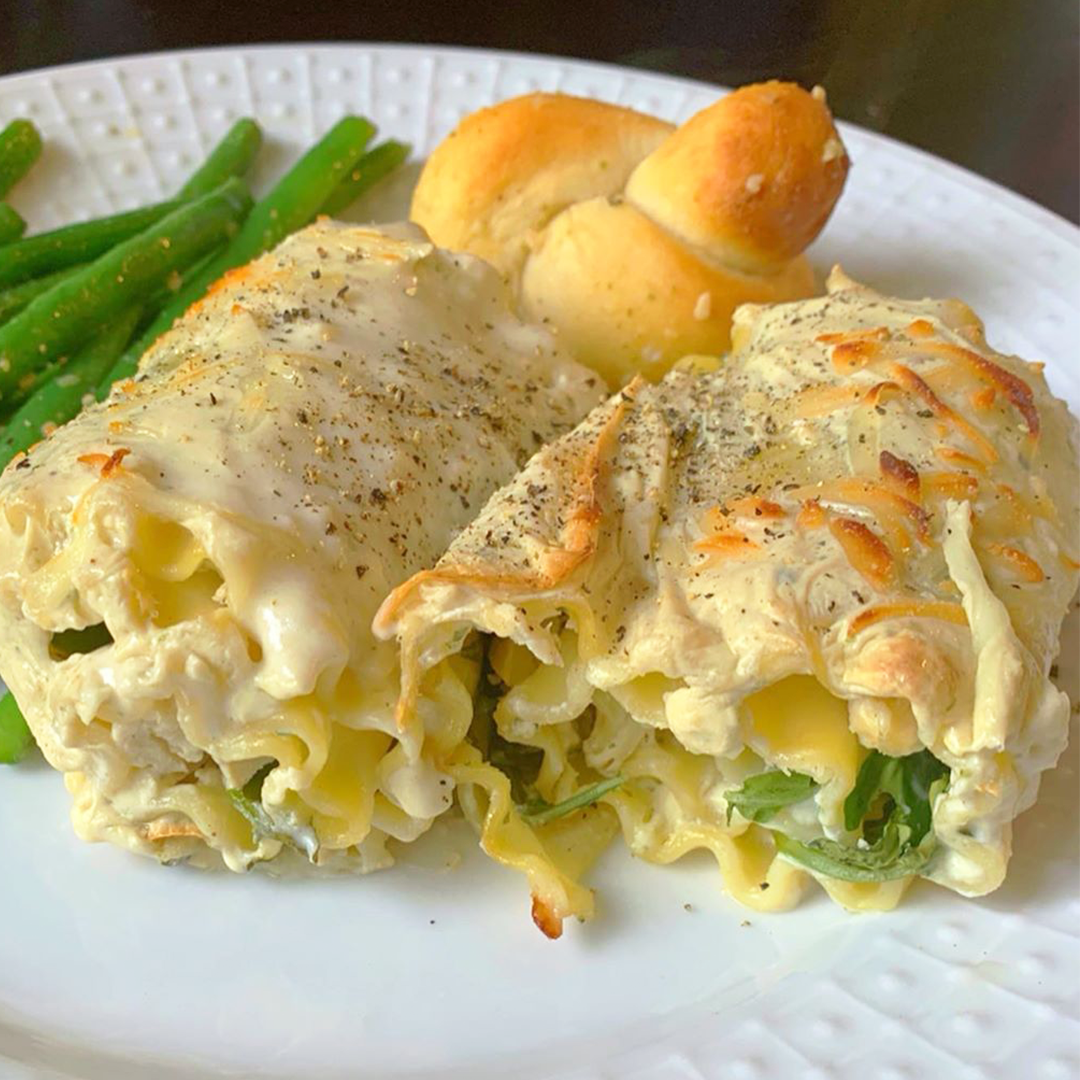 Chicken Lasagna Roll-Ups Recipe