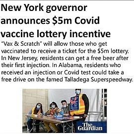 @VaccineChoiceCA New York Lottery (for covid shot)  Link Thumbnail | Linktree