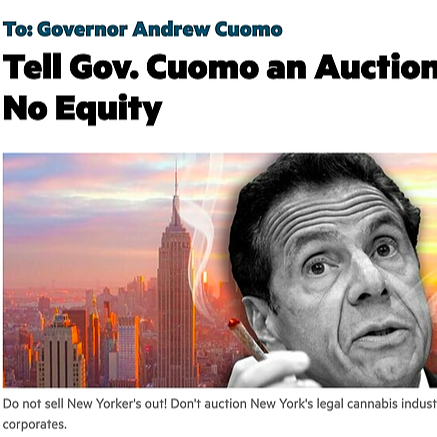 POLITICAL ACTION: New York says NO to Cannabis Auction