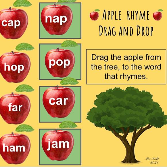 Miss Hecht Teaches 3rd Grade Apple Rhyme  Link Thumbnail | Linktree