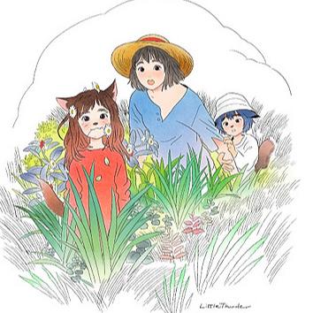 LITTLE THUNDER 《おおかみこどもの雨と雪 × リトルサンダー》Studio Chizu 10th Anniversary Collaboration Link Thumbnail | Linktree