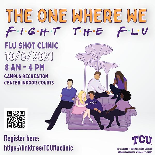 @TCUfluclinic Flu Clinic Flyer Link Thumbnail | Linktree