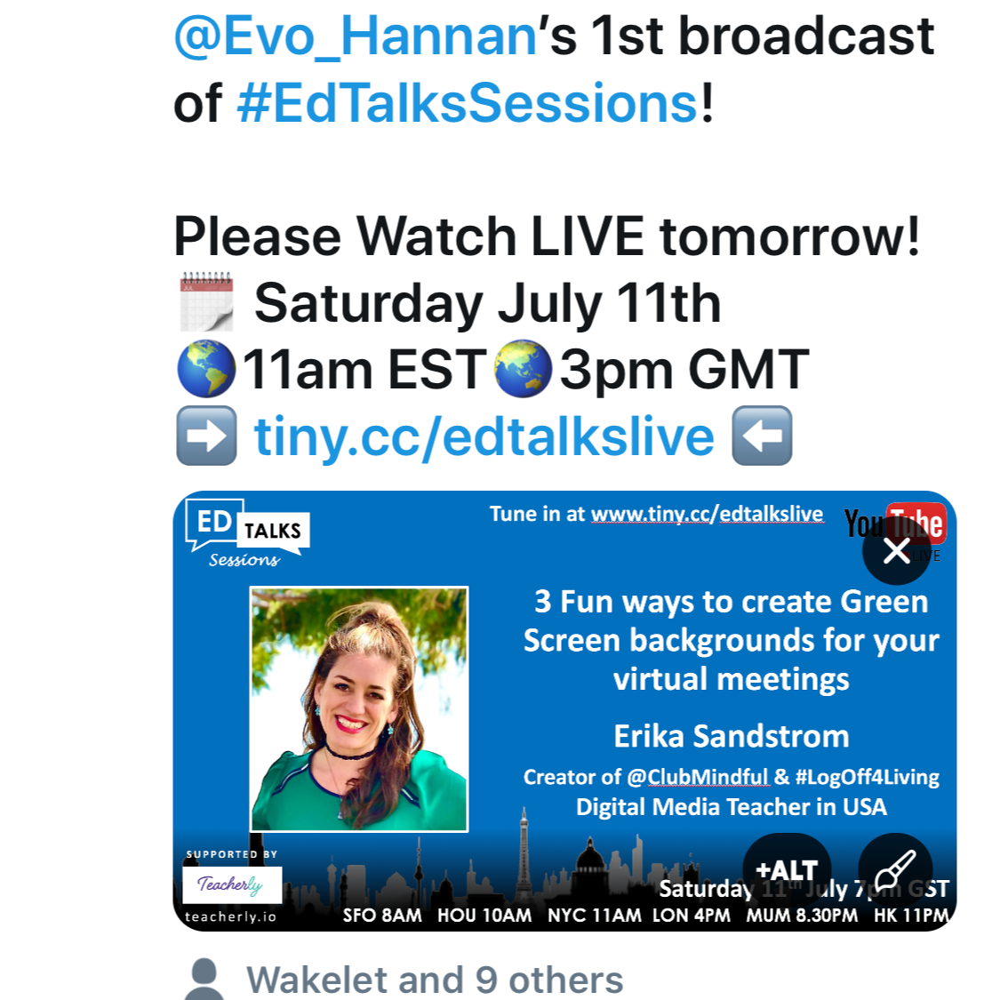 LEARN HOW TO USE VIRTUAL BACKGROUNDS for ZOOM, ECAMM LIVE, and MICROSOFT TEAMS!  CHECK out the first episode of For EVO Hannan's #EdTalksLive