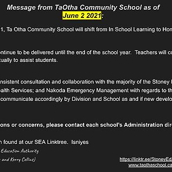 TaOtha Update as of June 2, 2021