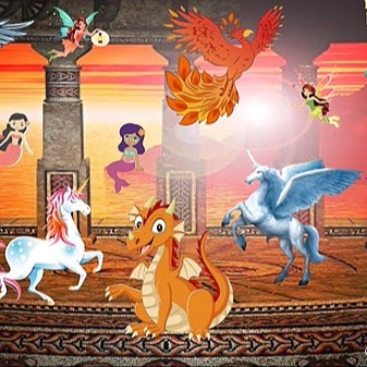 @RebeccaAllgeier Mythological Creatures Link Thumbnail | Linktree