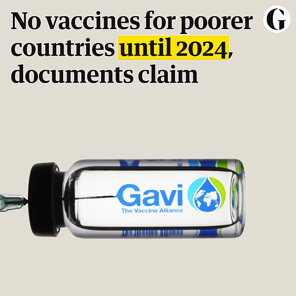 @guardian No vaccines for poorer countries until 2024, documents claim Link Thumbnail | Linktree