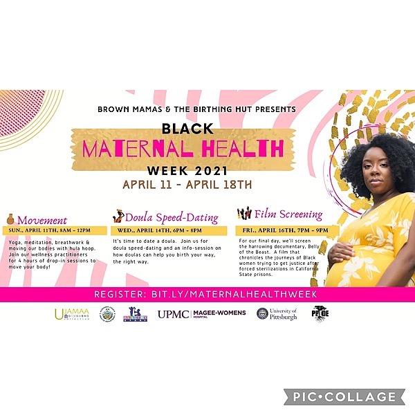 @YourBlackDoula Brown Mamas & The Birthing Hut present Black Maternal Health Week! Link Thumbnail | Linktree