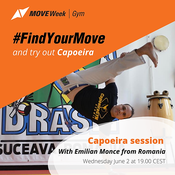 Wed, 19.00 CEST - Capoeira session with Emilian Moncea