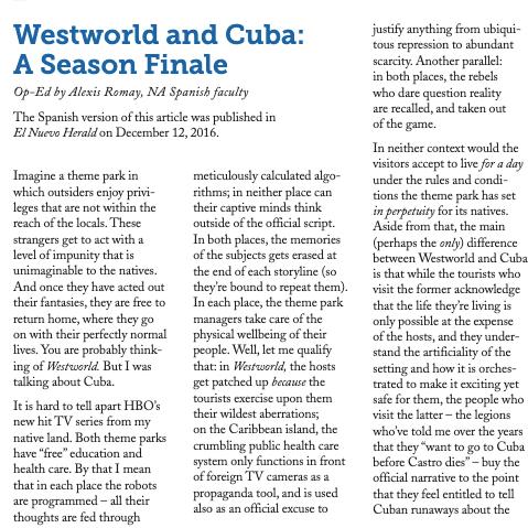 """@Lumen: """"WestWorld & Cuba: A Season Finale"""" (p10-11)"""