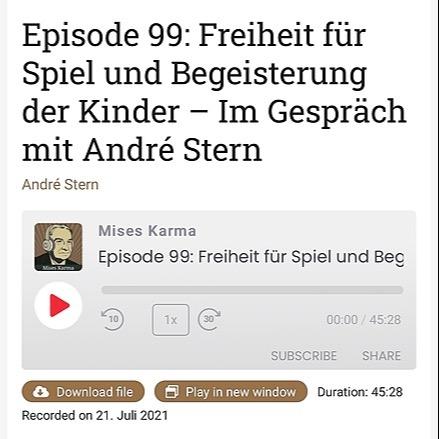 @andrestern Neuer Poscast mit André Stern Link Thumbnail | Linktree
