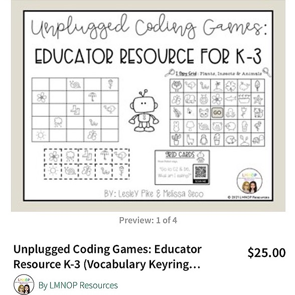LMNOP Resources Unplugged Coding Game Resource  Link Thumbnail | Linktree