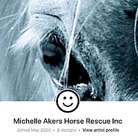 MA Horse Rescue & Outreach Merch RedBubble Link Thumbnail | Linktree