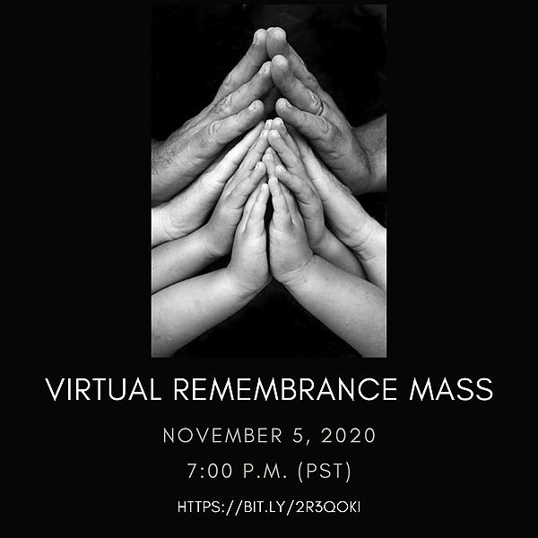 Community Remembrance Mass - Thursday, November 5