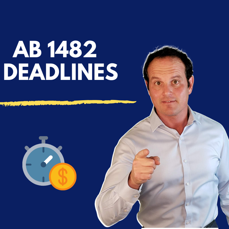 2 Important Deadlines for California Rent Control Law (AB 1482)