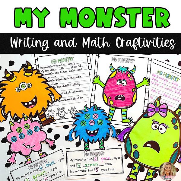 @thefirstgradecreative My Monster Writing and Math Craftivities  Link Thumbnail   Linktree