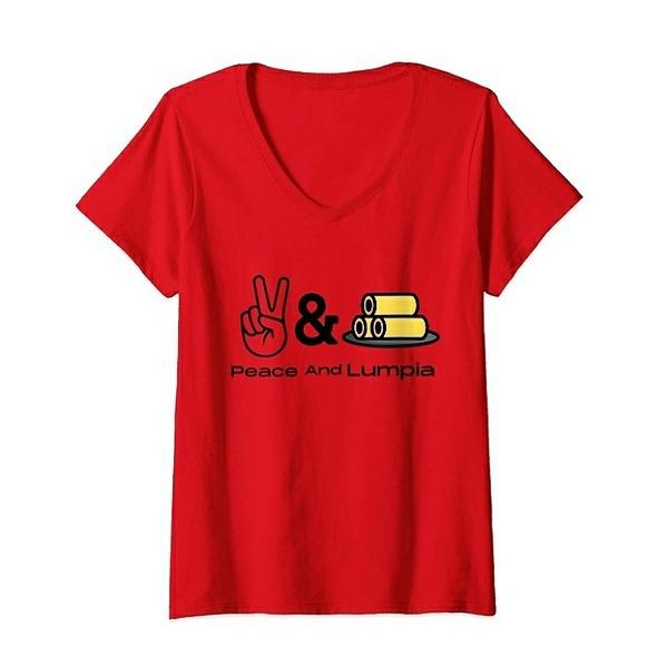 @worldfamousyumyum Peace & Lumpia Women's T-Shirt Link Thumbnail   Linktree