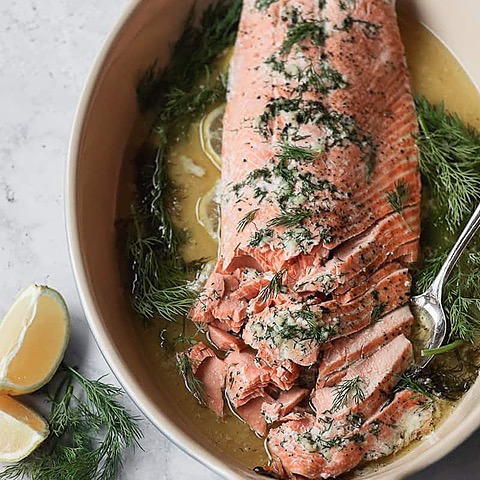 Buttery Slow Roasted Salmon