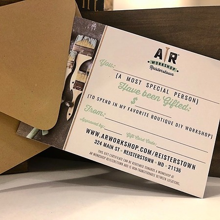 @ARWorkshopReisterstown Purchase A Gift Card Link Thumbnail   Linktree