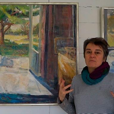 Alice Mumford sharing her new work at her studio