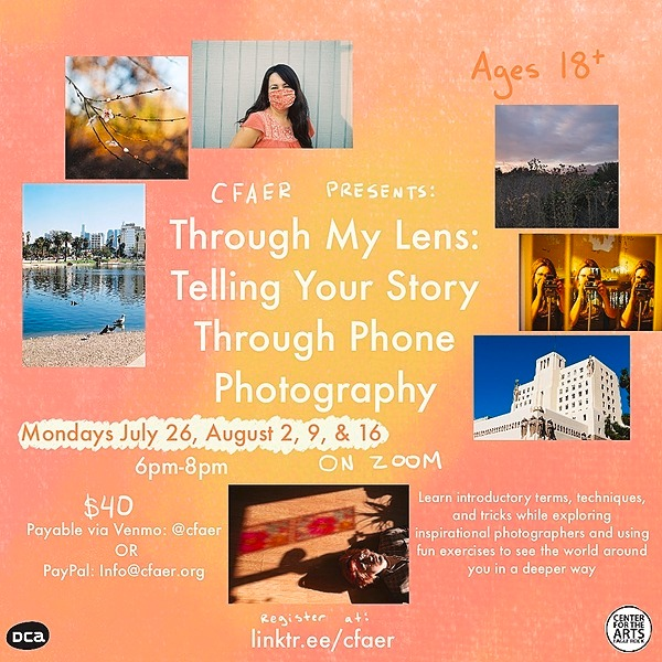 @CFAER Through My Lens: Narrative Phone Photography Workshop (for Adults) Link Thumbnail | Linktree