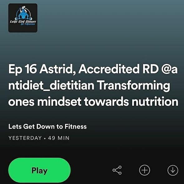 Astrid Naranjo RD/APD Transform your mindset towards nutrition-Letsgetdowntofitness podcast Link Thumbnail | Linktree