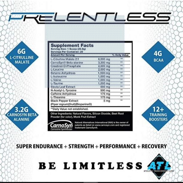 ATL Prelentless PreWorkout
