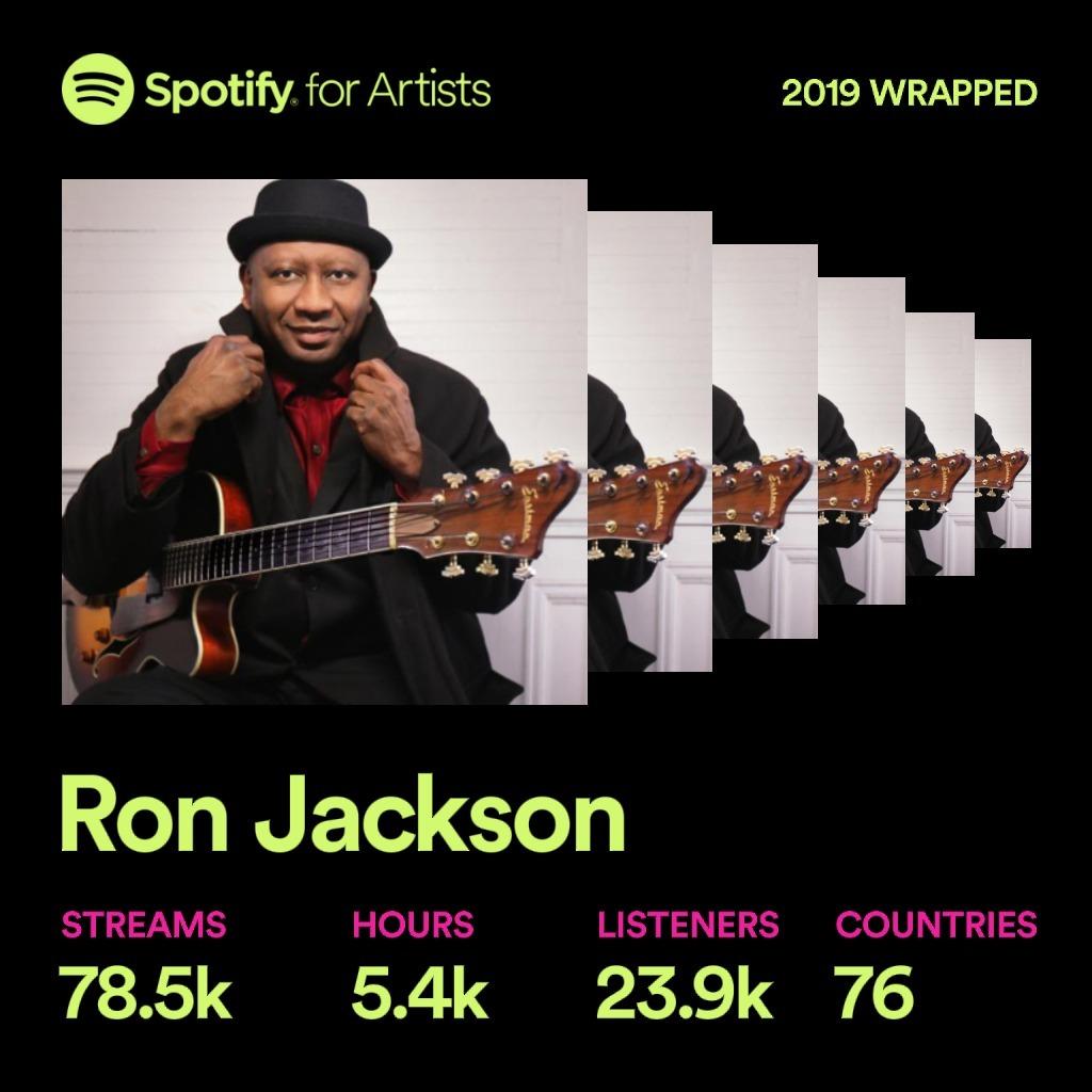 Ron Jackson Spotify Artist Page