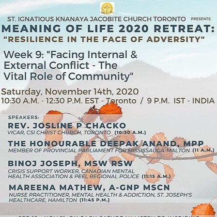 """@stignatiousseniors Speakers List for Week 9 of """"Meaning of Life 2020 Retreat"""" Seminar Link Thumbnail 