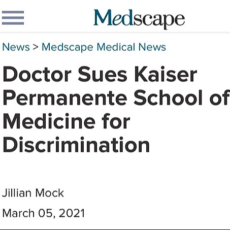 @AyshaKhouryMD Medscape: Doctor Sues Kaiser Permanente School of Medicine for Discrimination Link Thumbnail | Linktree
