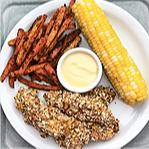 WW Pretzel-Crusted Chicken Tenders with Honey-Mustard Dip Recipe