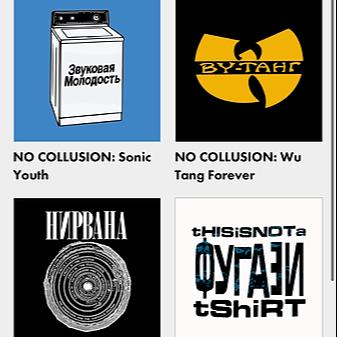 @Ayejayart NO COLLUSION: hacked band shirts Link Thumbnail | Linktree