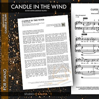 Candle in the Wind - digital sheet music