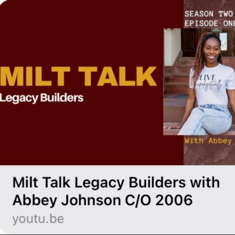 Meet Abbey ✨ Milt Talk: Legacy Builders 🤎💛  Link Thumbnail | Linktree