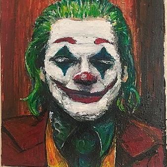 "@TimOzman ORIGINAL JOKER PAINTING. TIM OZMAN 11x14"" acrylic paint Link Thumbnail | Linktree"
