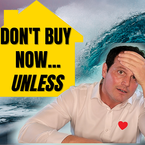 Is now a good time to buy a house❓ Don't buy now...unless