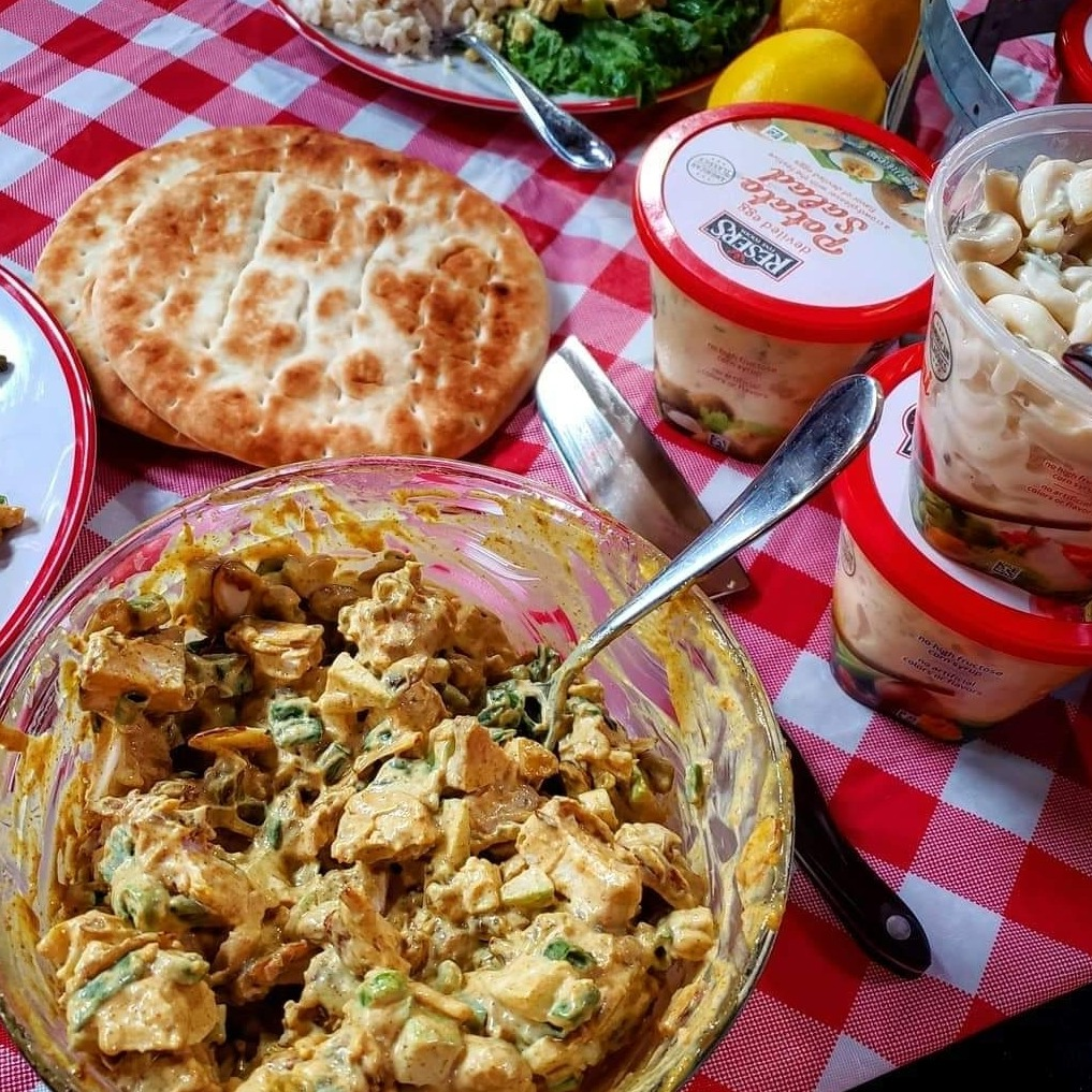Cayts Curry Chicken Salad and Buttermilk Brine method