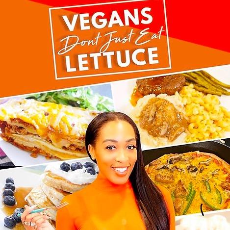 @KeairaLaShae SHOP VEGANS DON'T EAT JUST LETTUCE COOKBOOK Link Thumbnail | Linktree