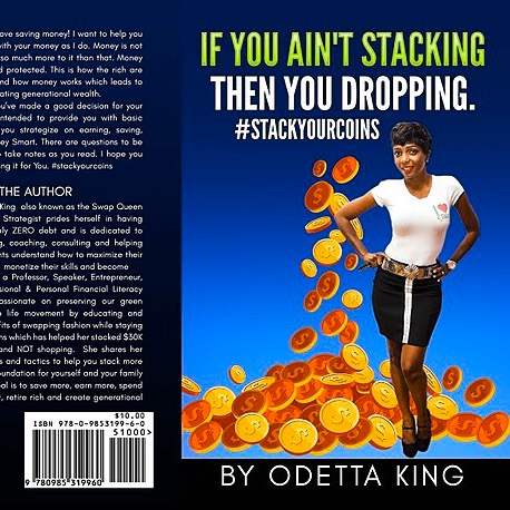 """odettaking.com 973-842-7927 Order your own autographed copy """"If you ain't stacking, then you dropping! #stackyourcoins Link Thumbnail 