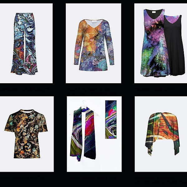 Chromatic Verse Wearable Art - Tunics, shirts, dresses, leggings, scarves, shawls,  tablecloths, masks, and more