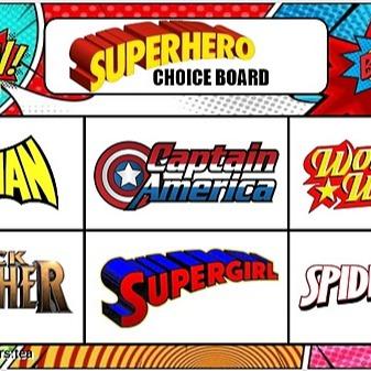 @teachers.tea Superhero! Choice Board Link Thumbnail | Linktree