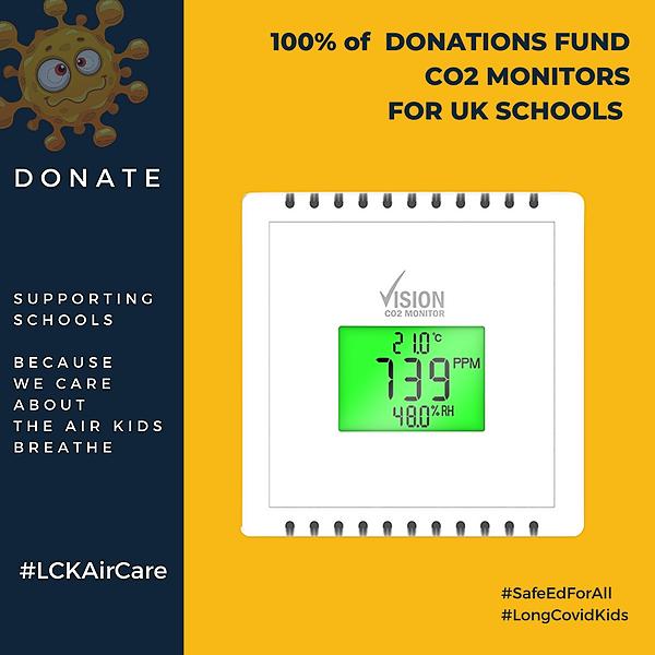 CO2 Monitors in Schools - Donate / Learn more -  #LCKAircare