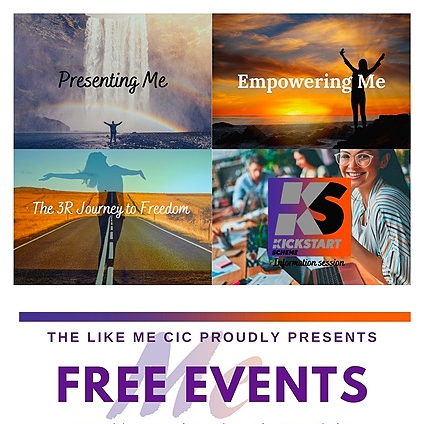 The Like Me CIC Free Events Link Thumbnail | Linktree