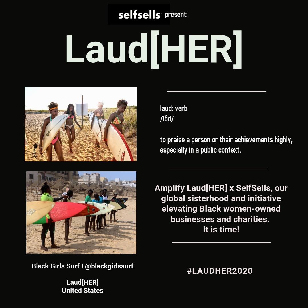 Black Girls Surf Laud[HER] x SelfSells - #laudher2020 Link Thumbnail   Linktree