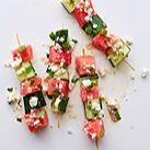 WW Watermelon-Cucumber Skewers Recipe
